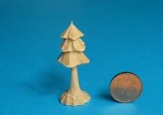 3er Miniatur-Bäumchen mit Stamm