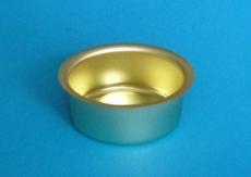 Teelicht-Einsatz 18 mm messingfarben