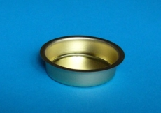 Teelicht-Einsatz 12 mm messingfarben