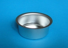 Teelicht-Einsatz 18 mm silberfarben