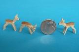 3 Miniatur-Rehe
