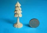 4er Miniatur-Bäumchen mit Stamm